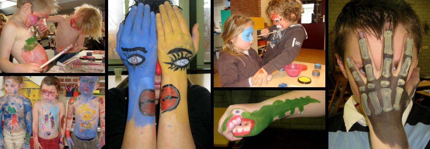 Workshop fantasiegrime en bodypaint - primair en voortgezet onderwijs
