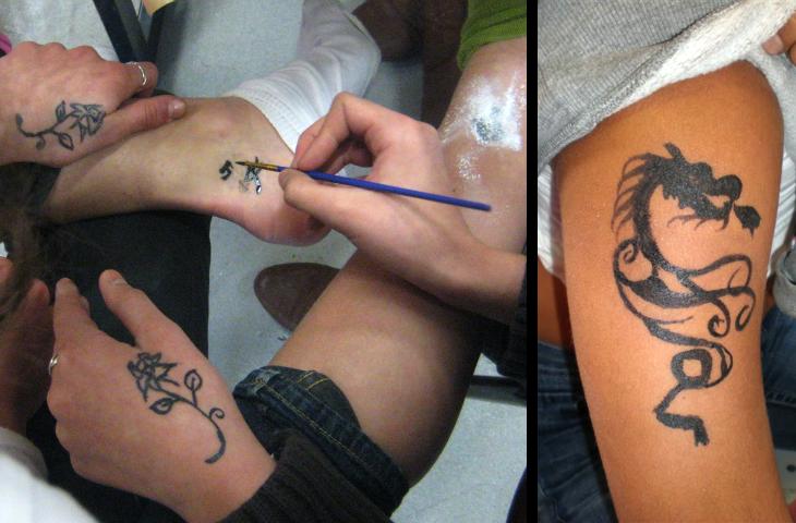 Workshop tatoeage maken - primair en voortgezet onderwijs
