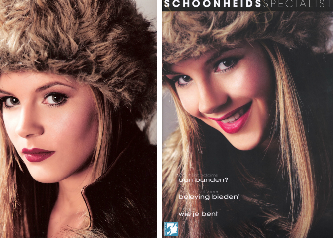 ANBOS - cover 'De Schoonheidsspecialist', fotografie: Michel Zoeter, model: Odielle